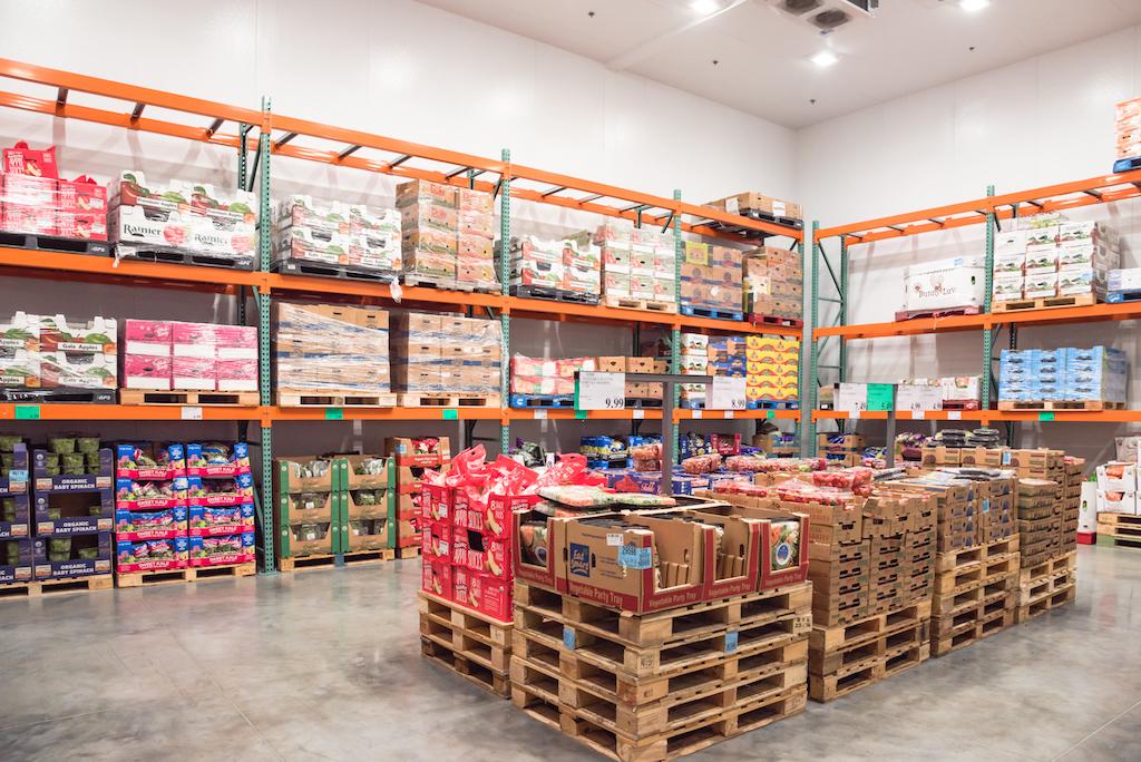 Costco store shelves