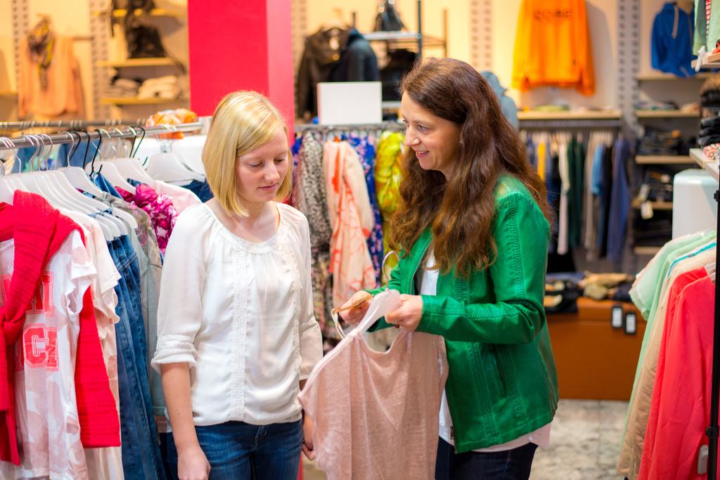 Woman shopping Retail Store Layouts