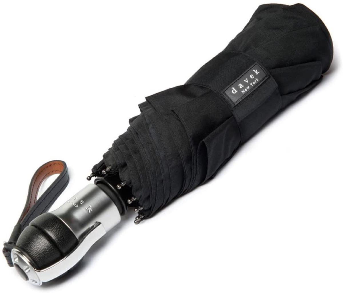 black travel umbrella