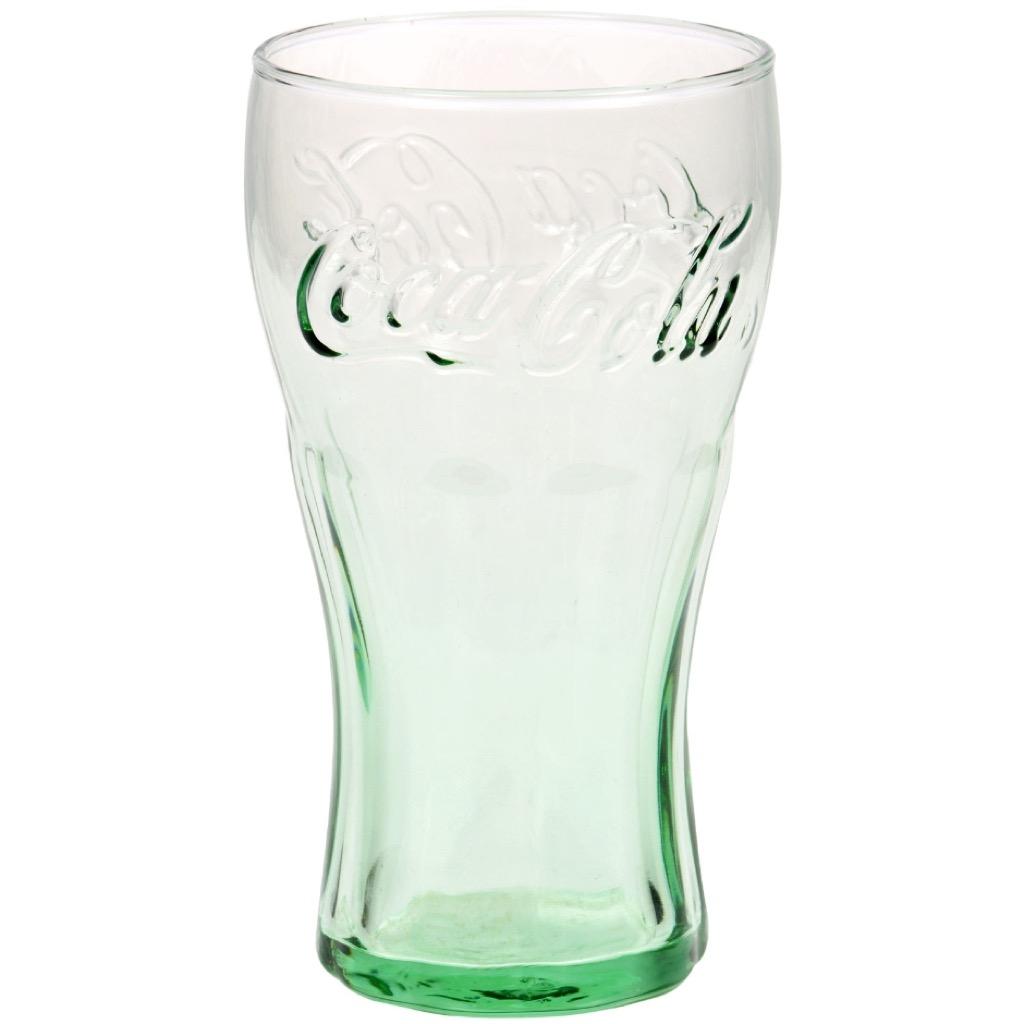 Original green coca cola glass