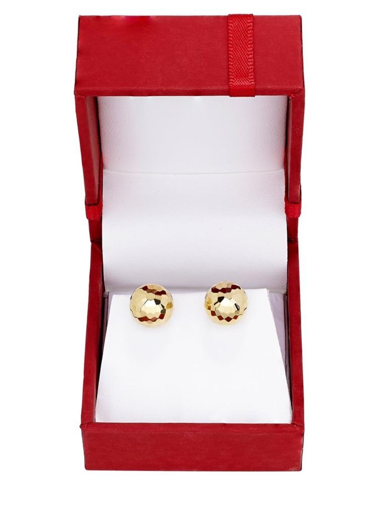 14K gold ball earrings