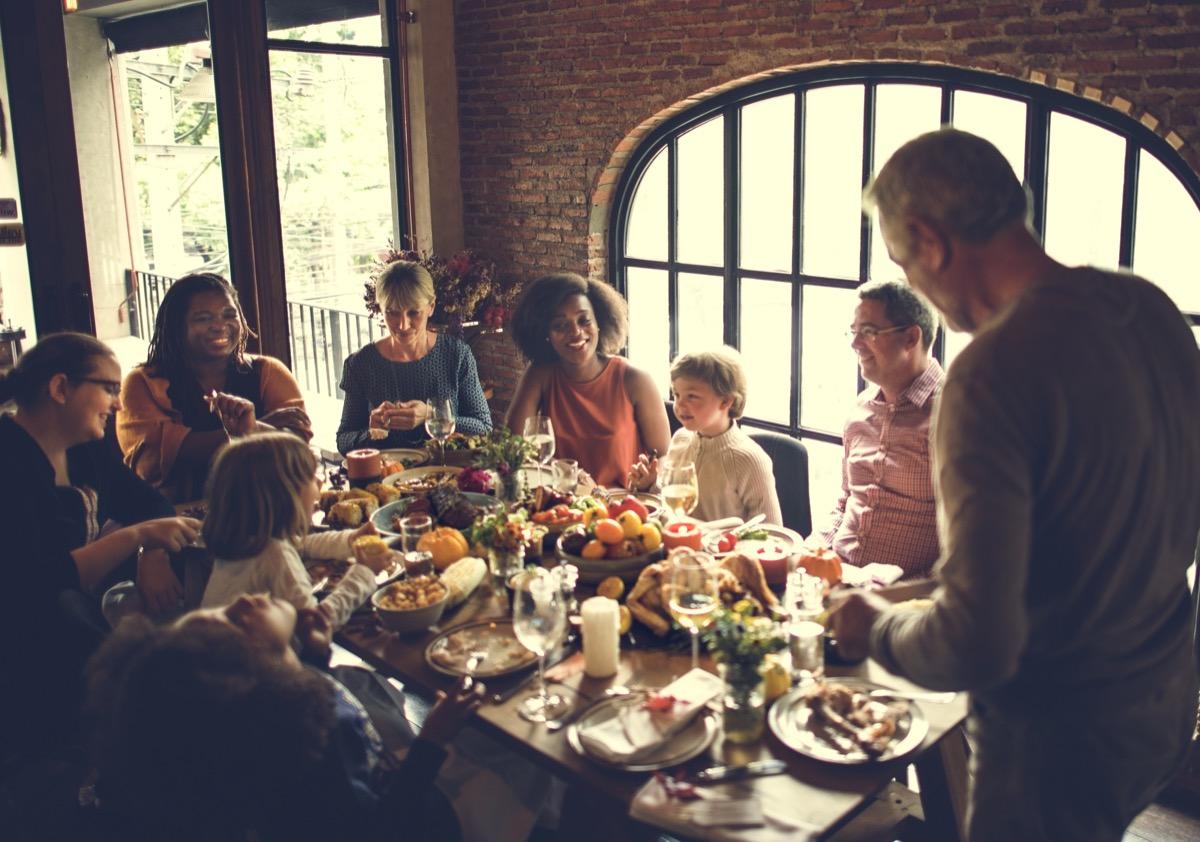 family at thanksgiving dinner be a better partner
