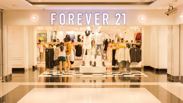 forever 21 storefront in singapore