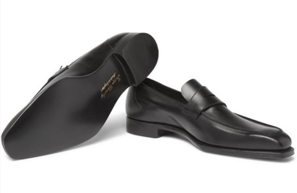 george cleverly black loafers