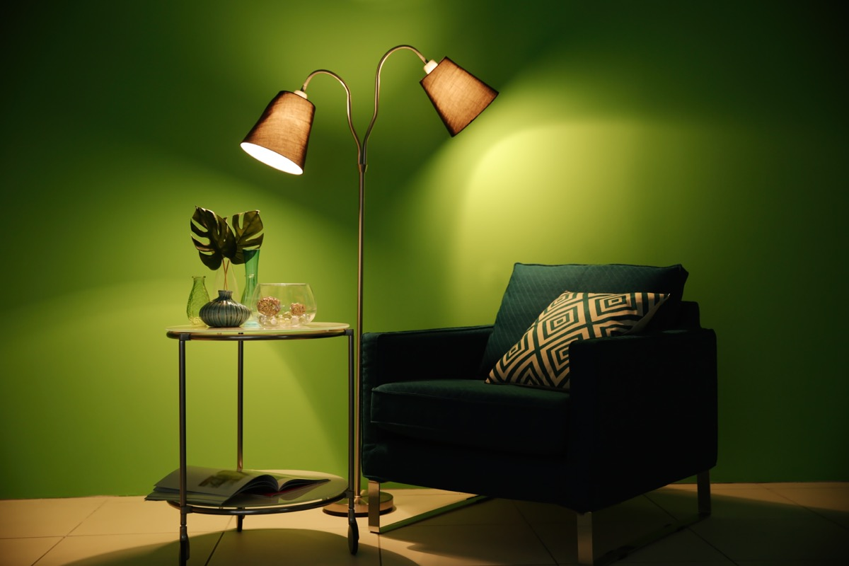 Green Painted Wall celebrity home design tricks