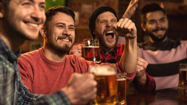 men drinking ways we're less healthy