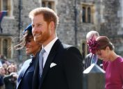 harry and meghan at eugenie wedding