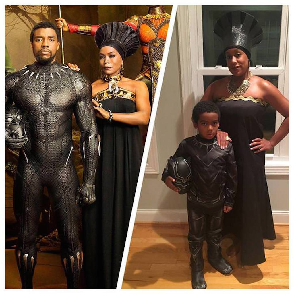 mother/son black panther