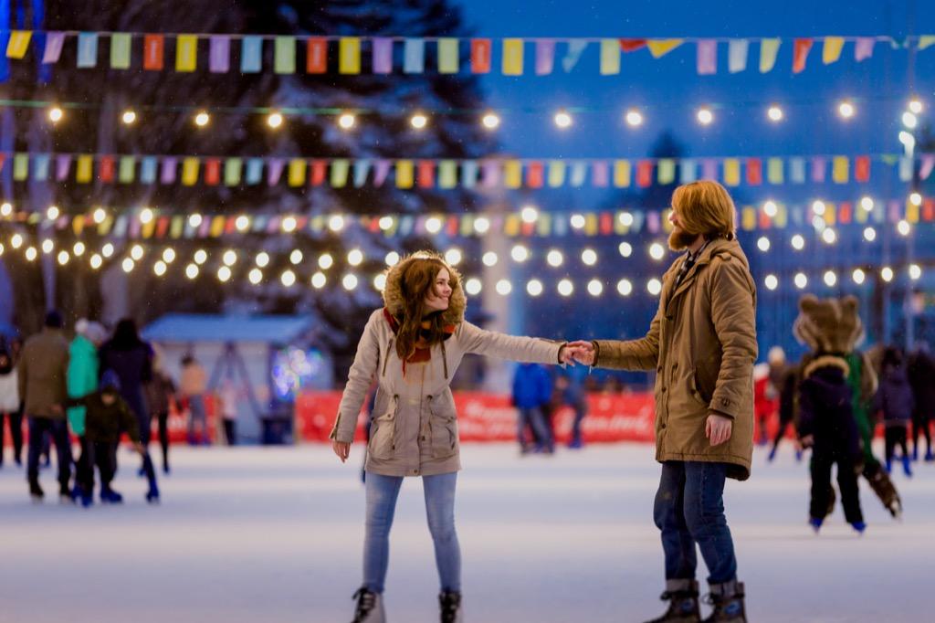 couple ice skating date night ideas