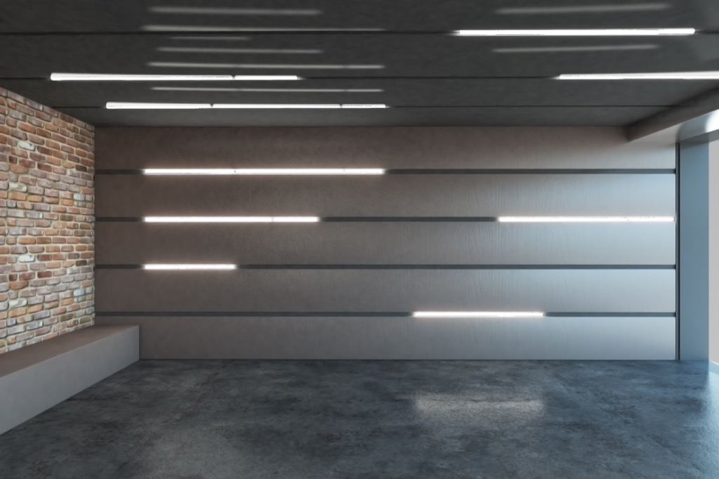 illuminated wall in a smart home