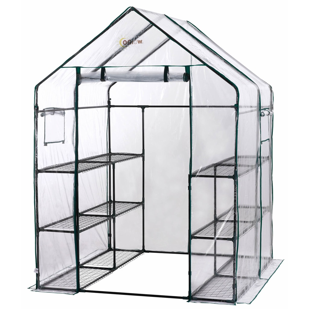 A moveable, outdoor greenhouse