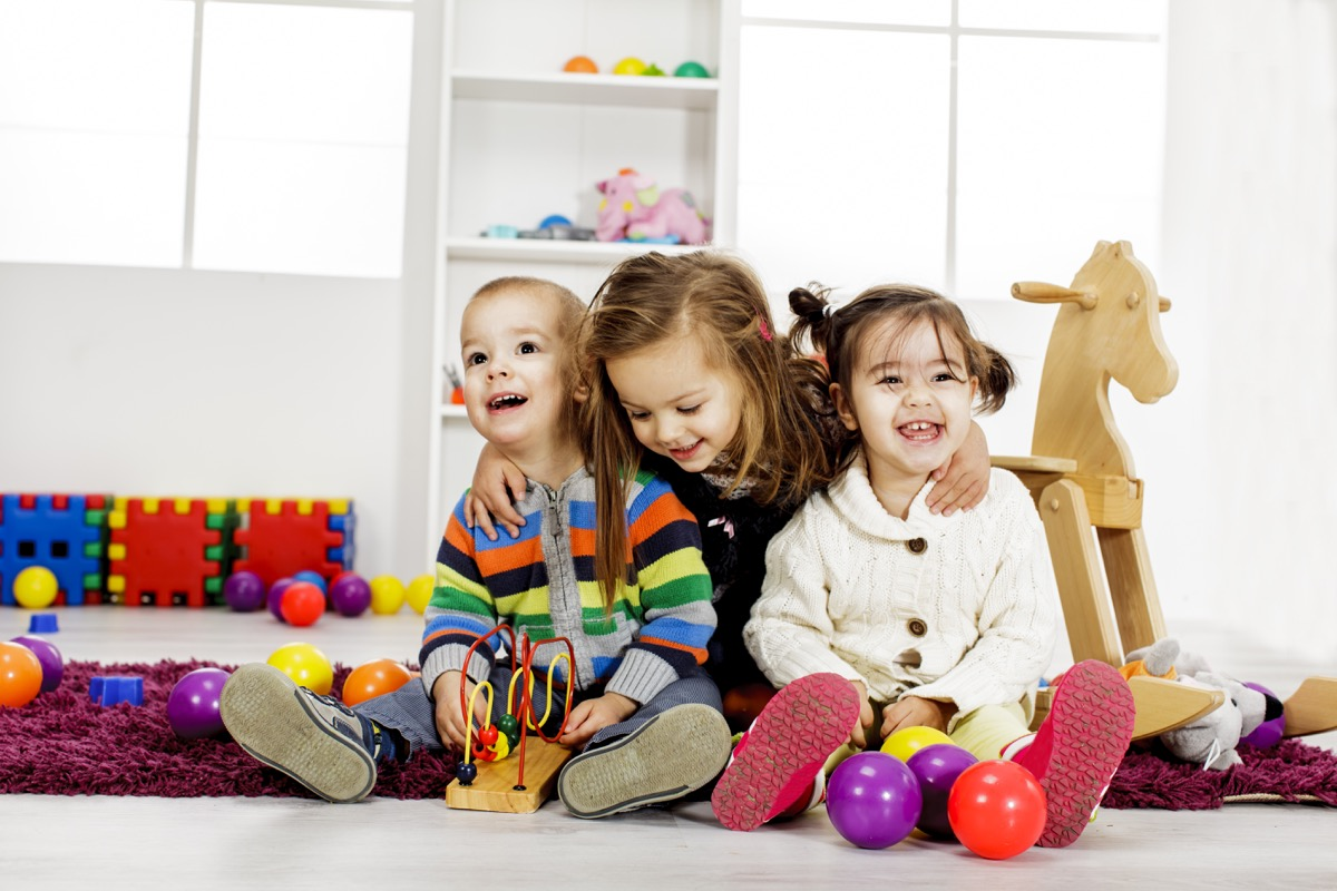 Kids Playing Together Dealing with Holiday Stress