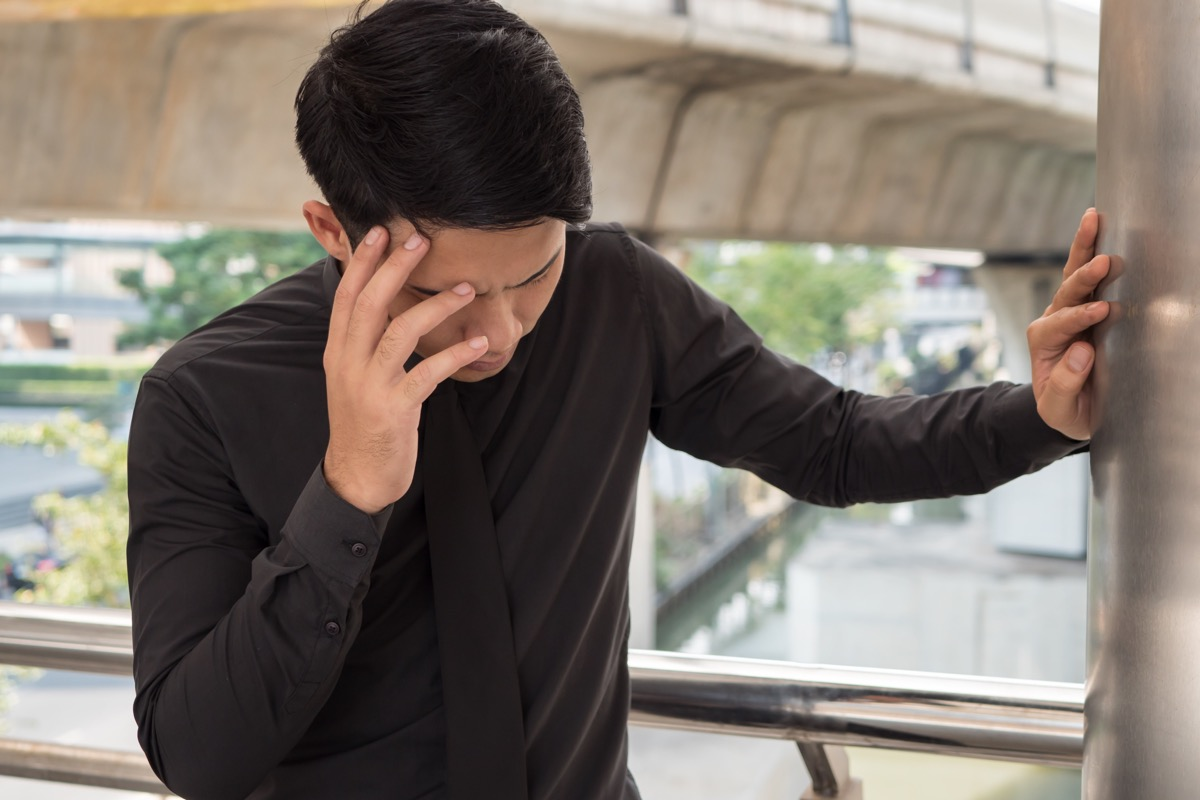 Man is Feeling Dizzy {How Loneliness Harms Your Health}