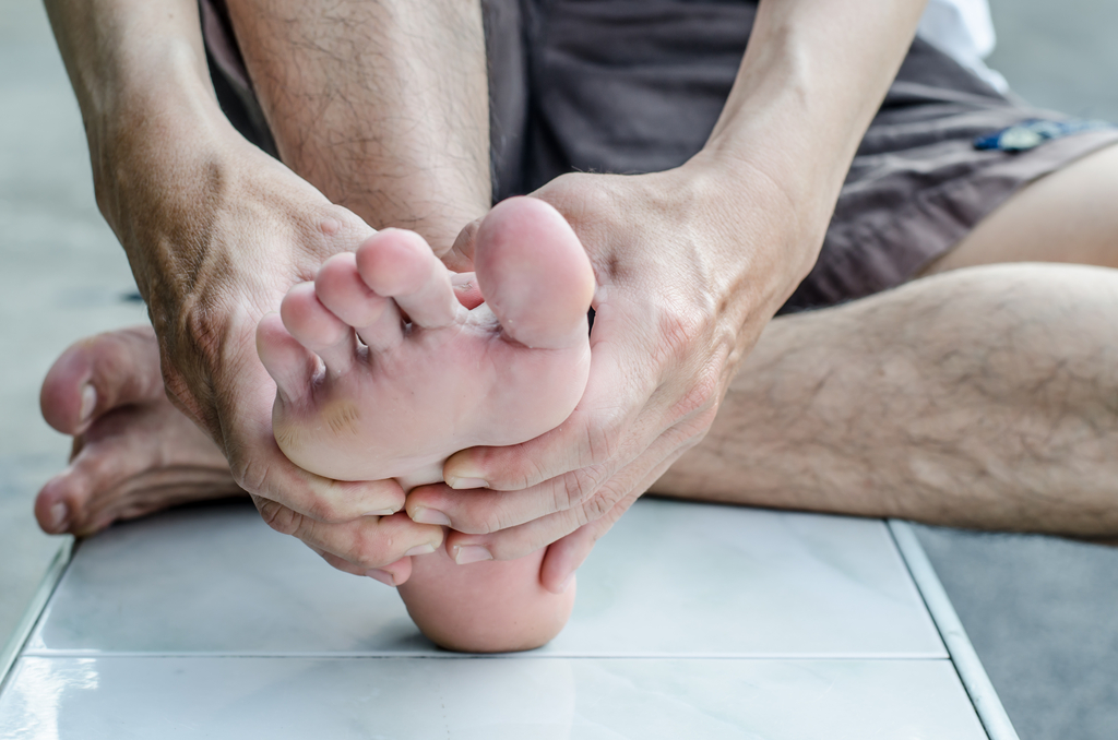 Man with Athlete's Foot Diseases That Affect Men