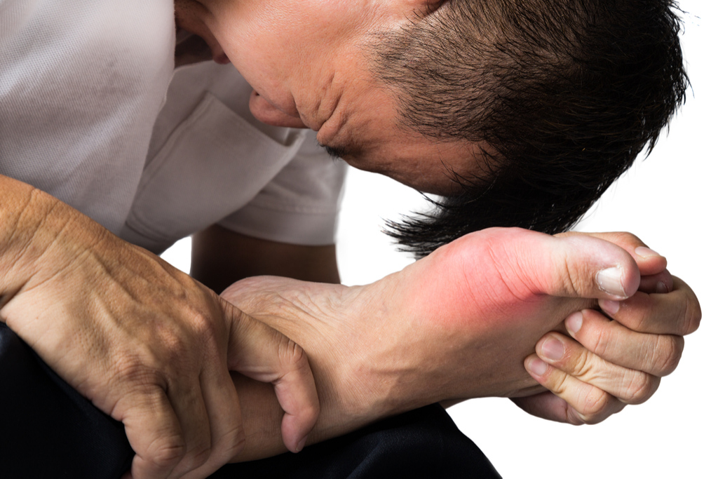 Man with Gout Diseases That Affect Men