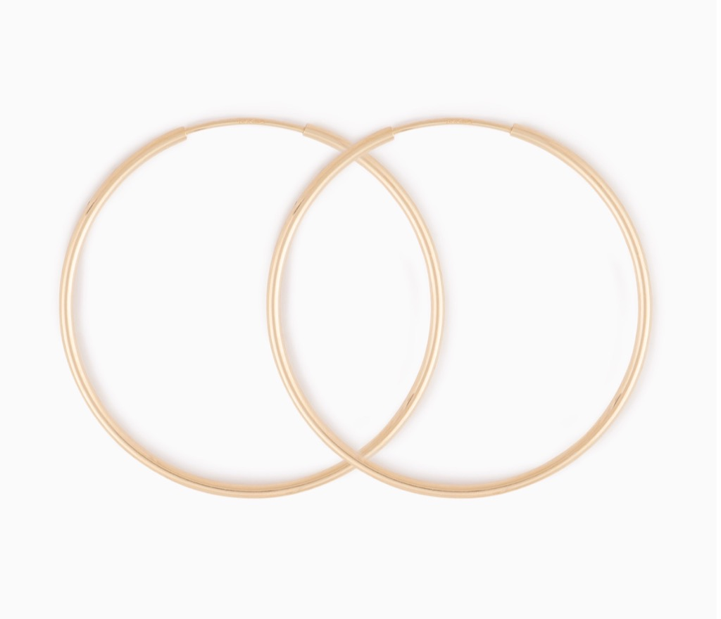 gold hoops over 50 accessories