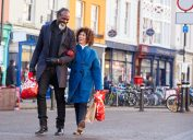 40-something couple shopping