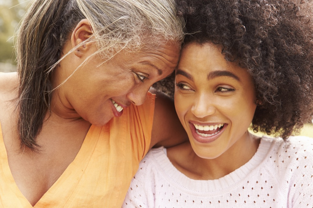 mother smiling with her adult daughter Anti-Aging Tips You Should Forget