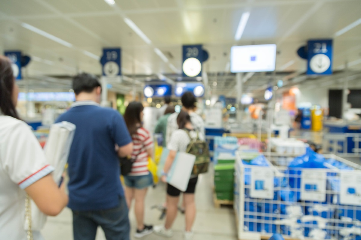 overcrowded checkout lanes, never say to cashier