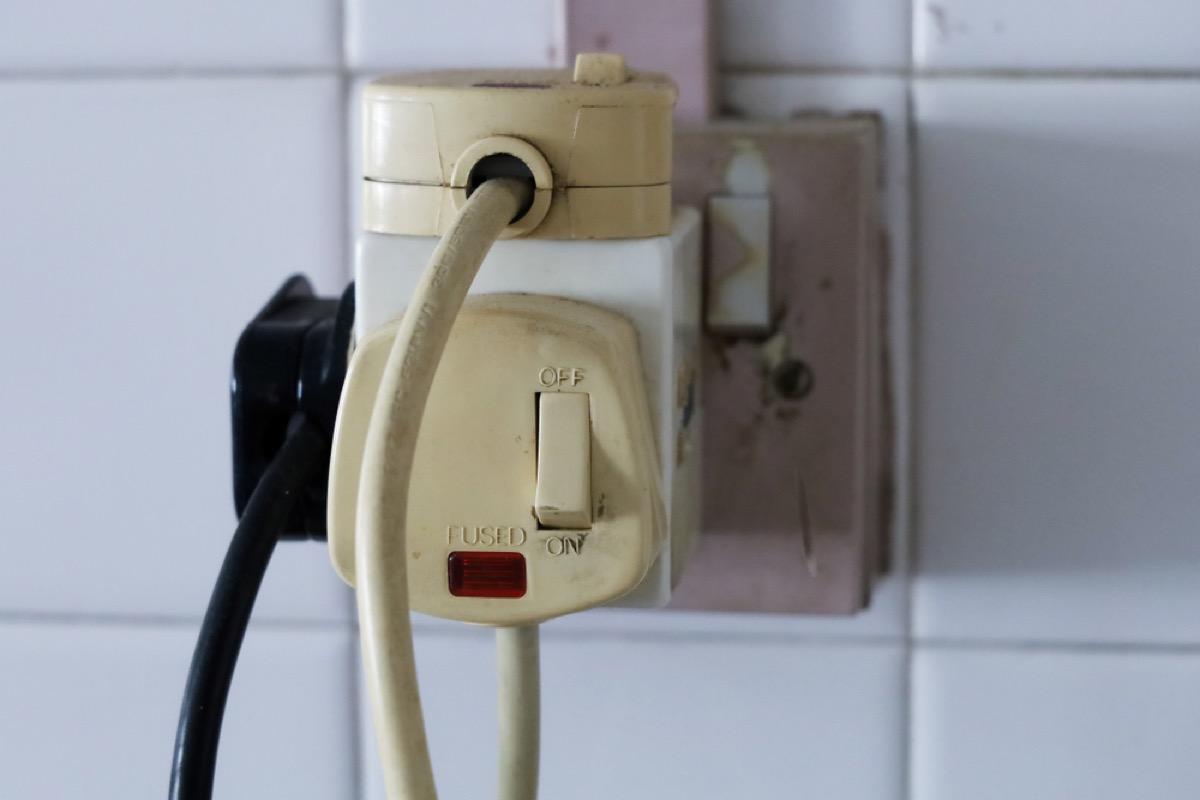 overloaded outlet, property damage