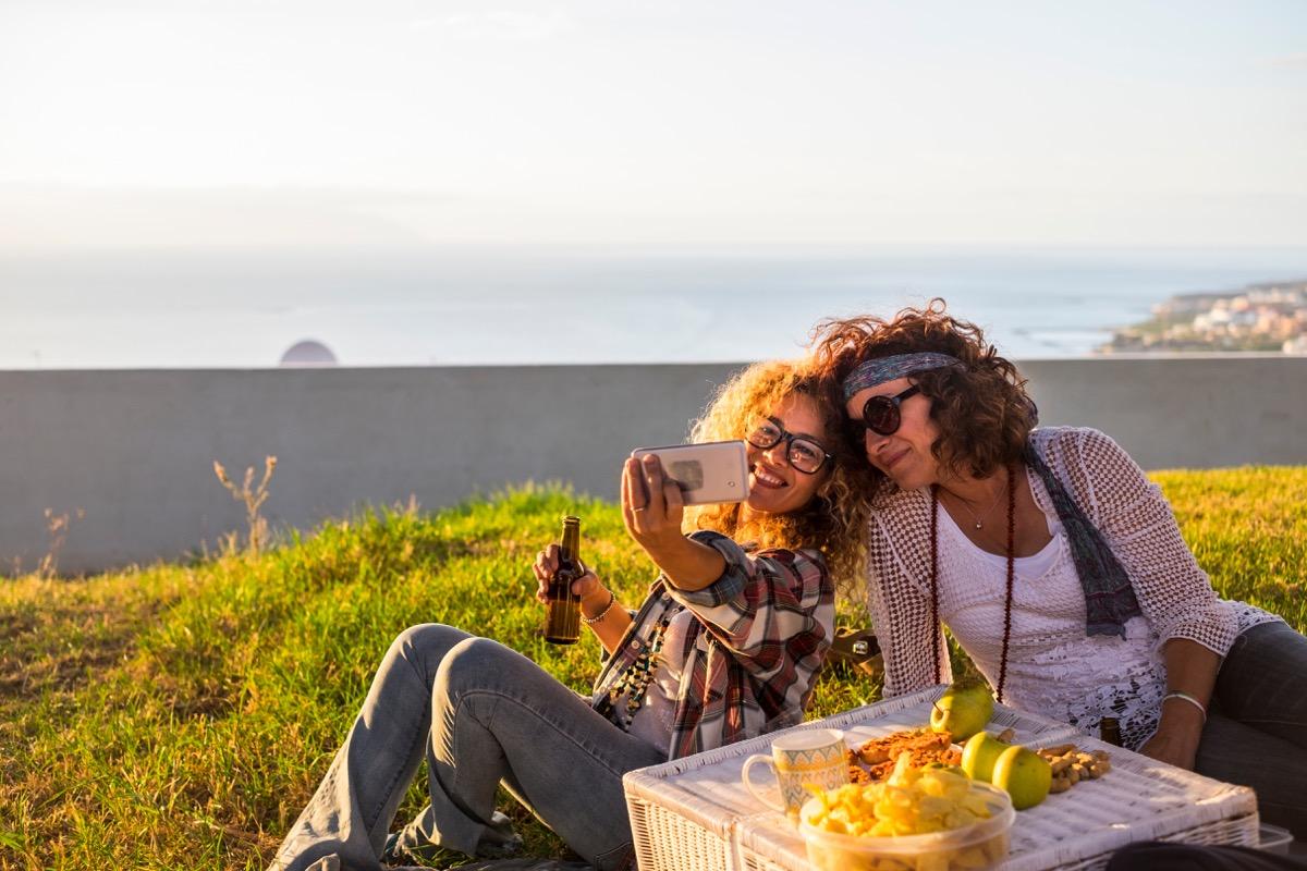 Women at a picnic
