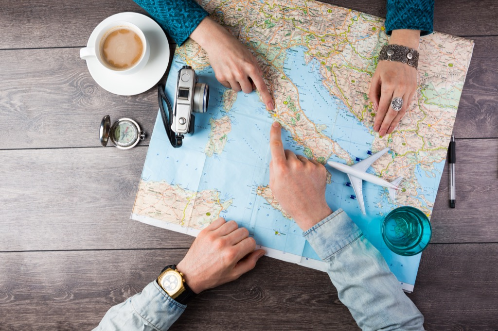 couple planning a trip