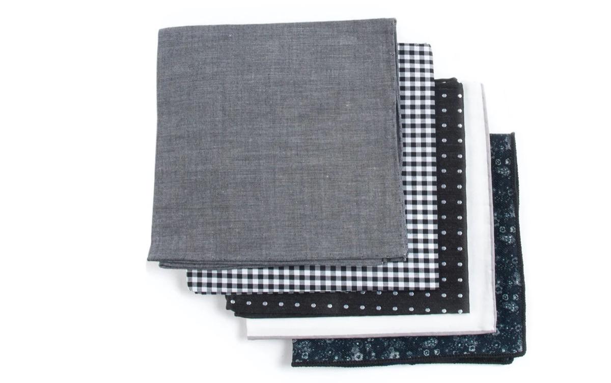 five pack of pocket squares