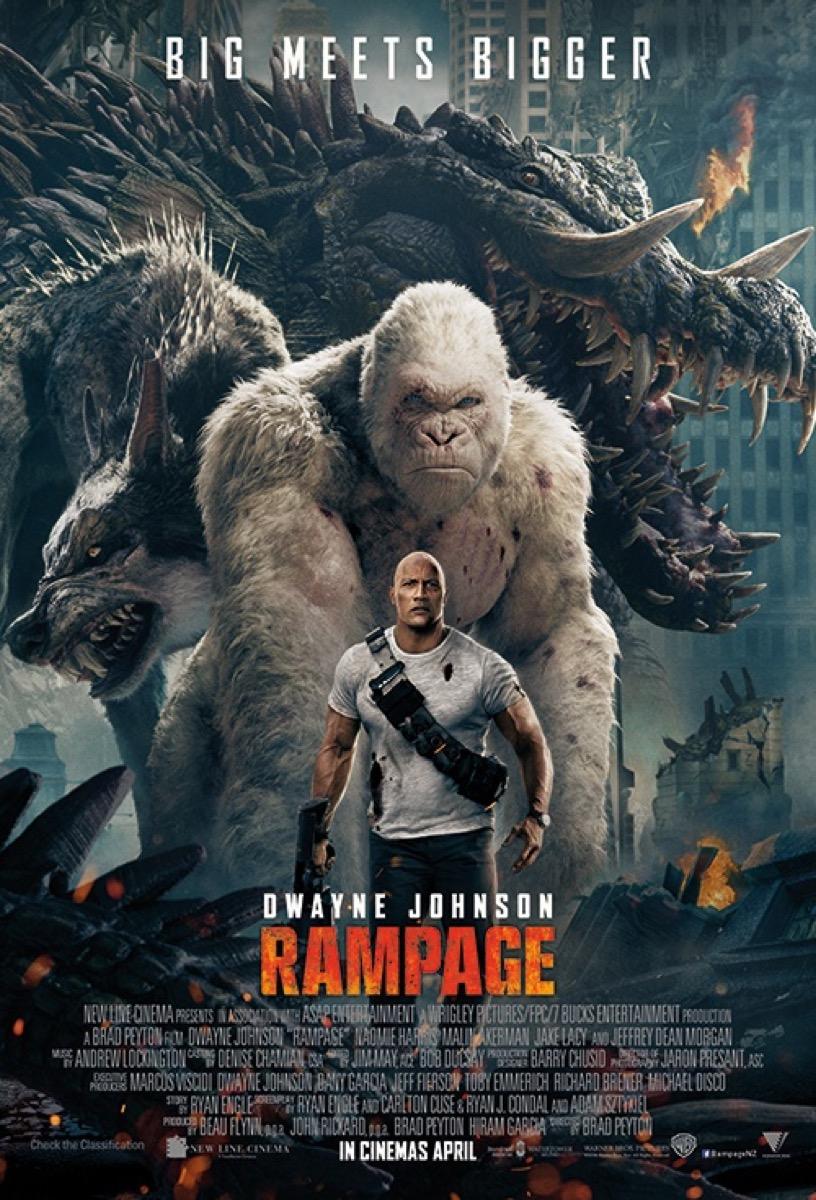 Rampage movie poster {Alternate Movie Endings}