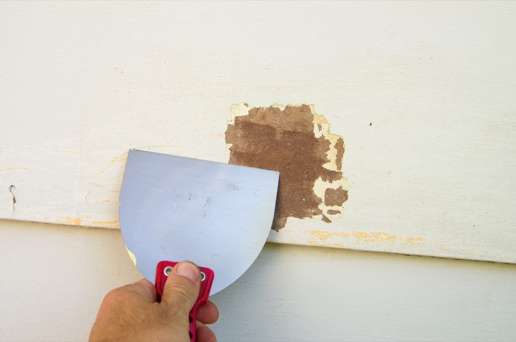 scraping siding home damage {priorities after 50}