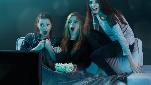 teens watching scary movie lies kids tell their parents