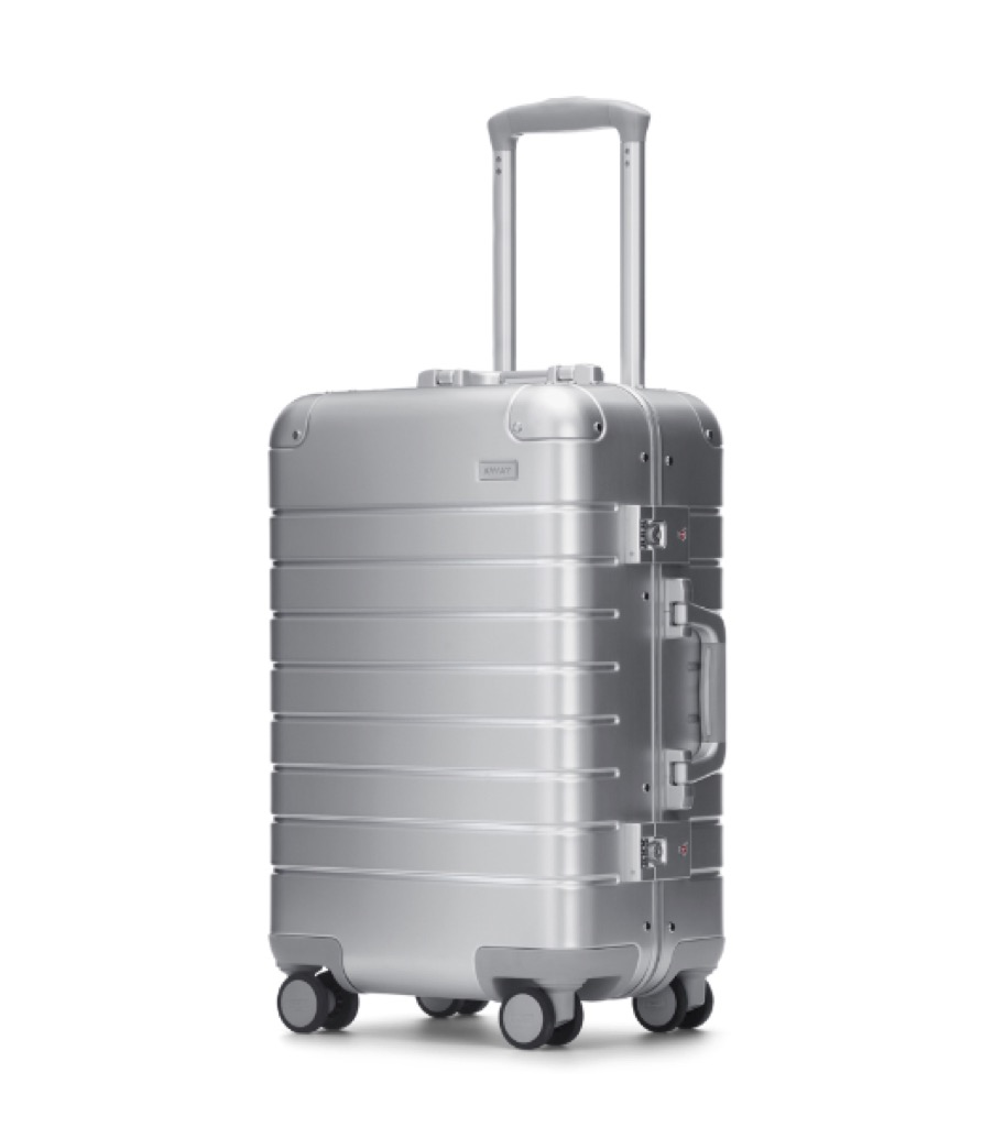 silver roller suitcase