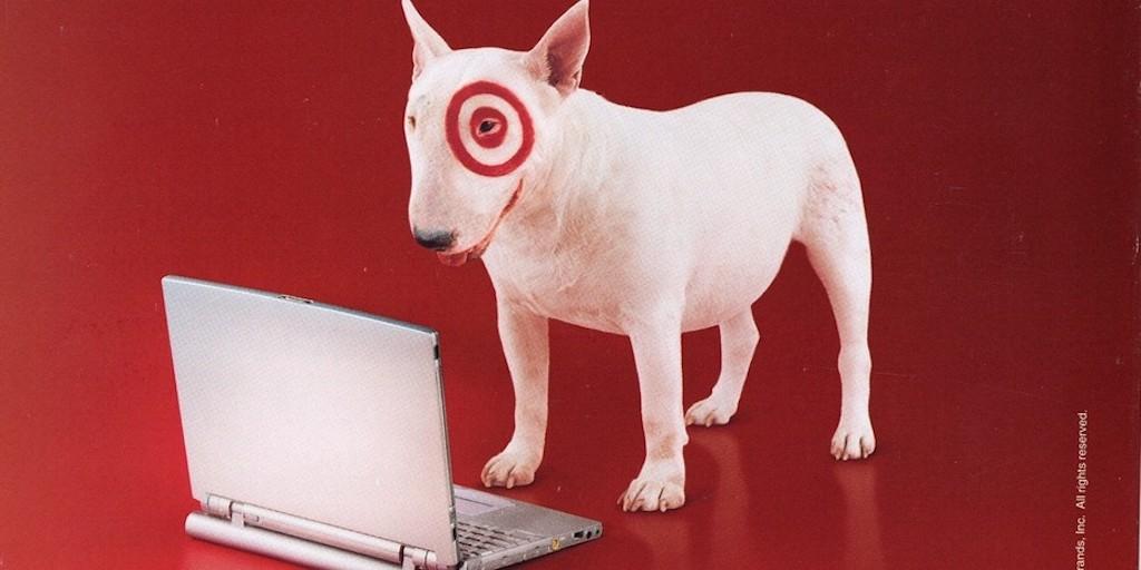 Target bullseye dog advertisement
