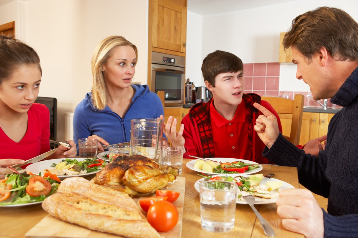 Family Arguing Dealing with Holiday Stress