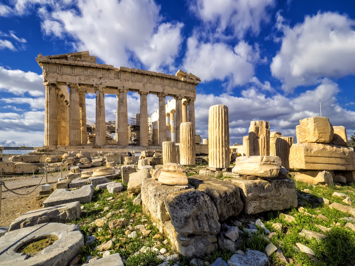 the parthenon on the acropolis in athens greece in daytime