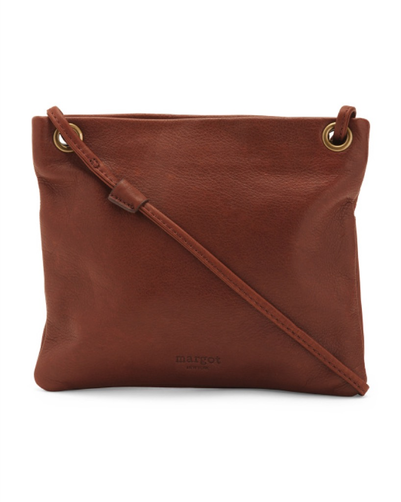 A leather cross-body bag