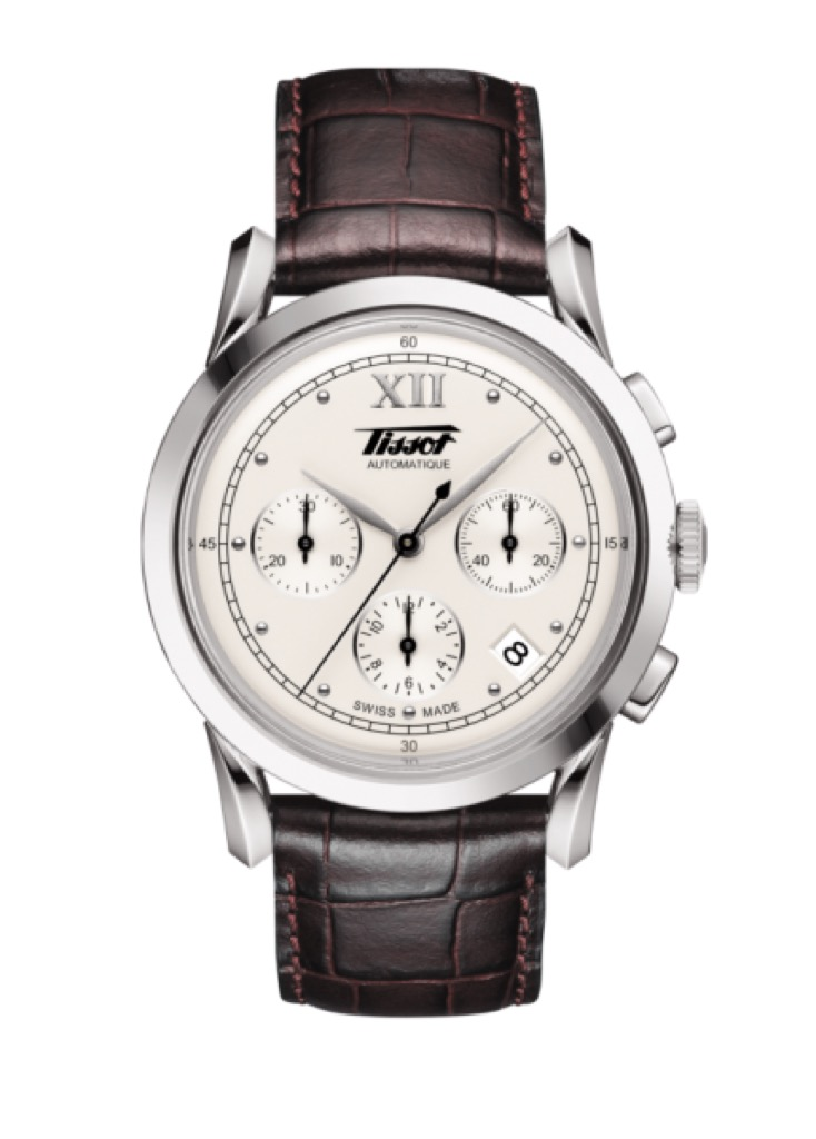 tissot watch with brown strap