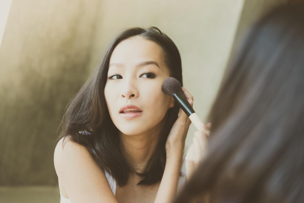 Woman Applying Makeup {Bad Costco Bargains}