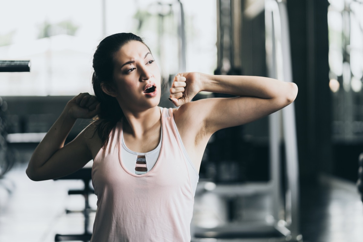 Woman Yawning After Workout Why We Yawn