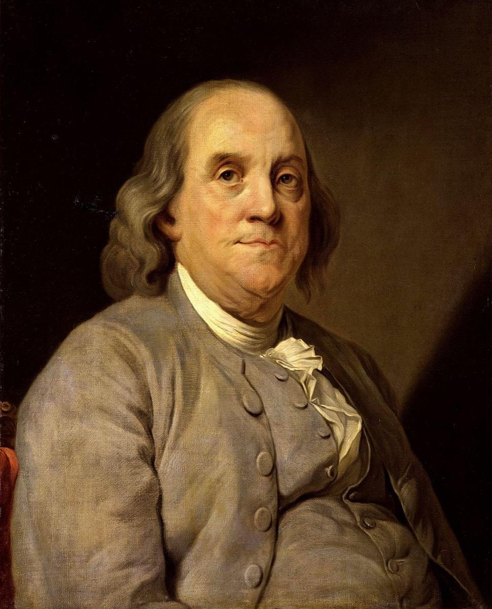 Portrait of Ben Franklin