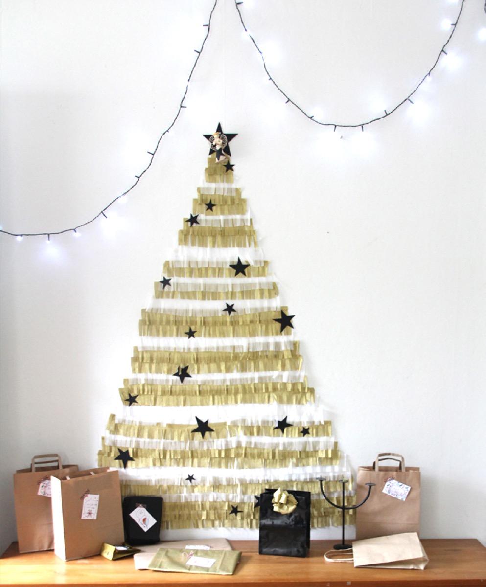 Crepe Paper Tree {Christmas Tree Alternatives}