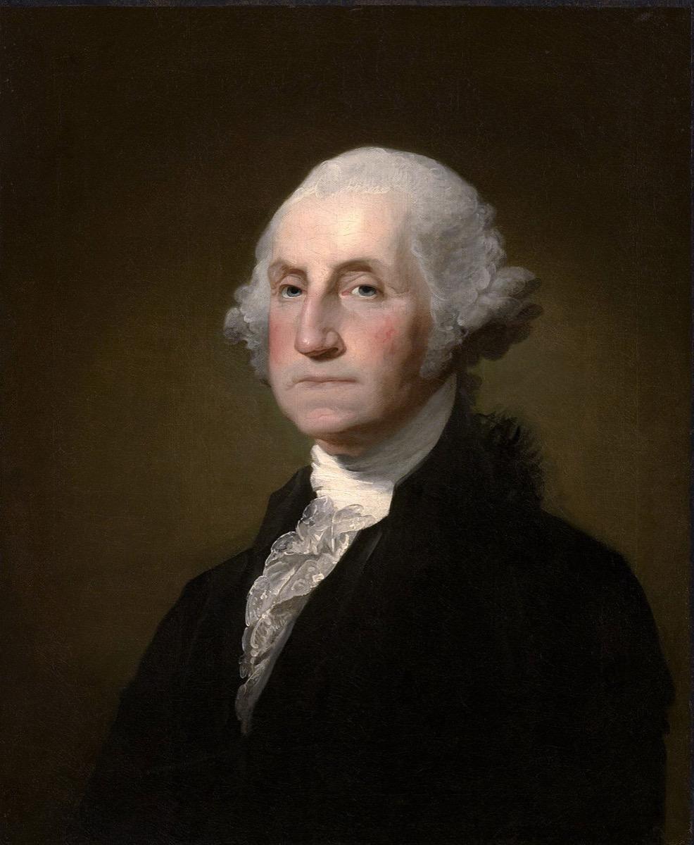 Portrait of George Washington historical facts