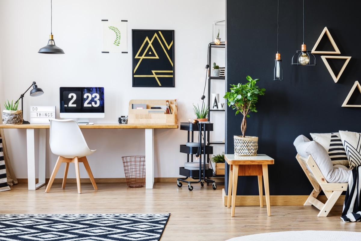 black accents in home celebrity home design tricks