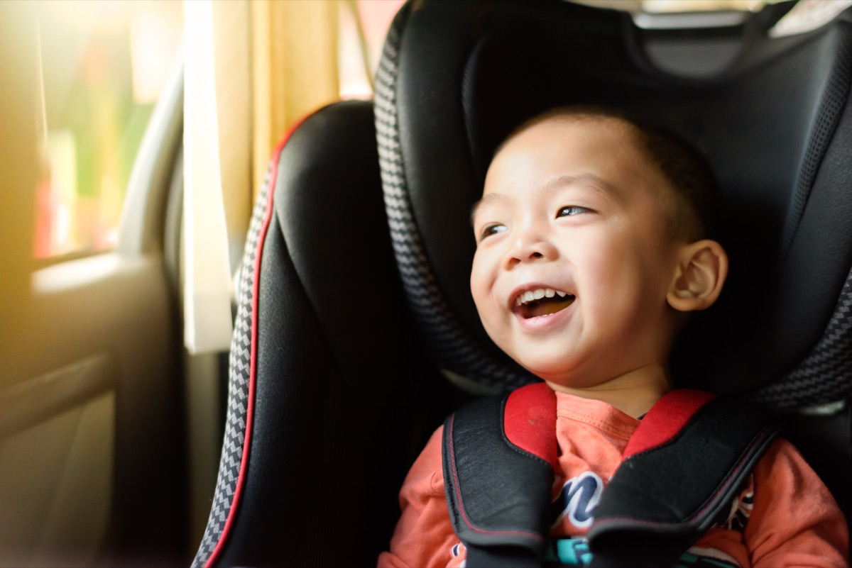 kid in car seat, ways parenting has changed.