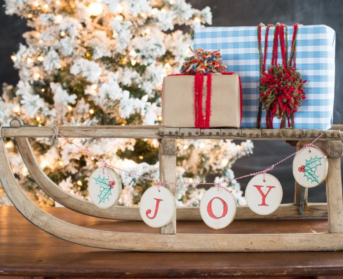 wooden banner diy christmas decorations