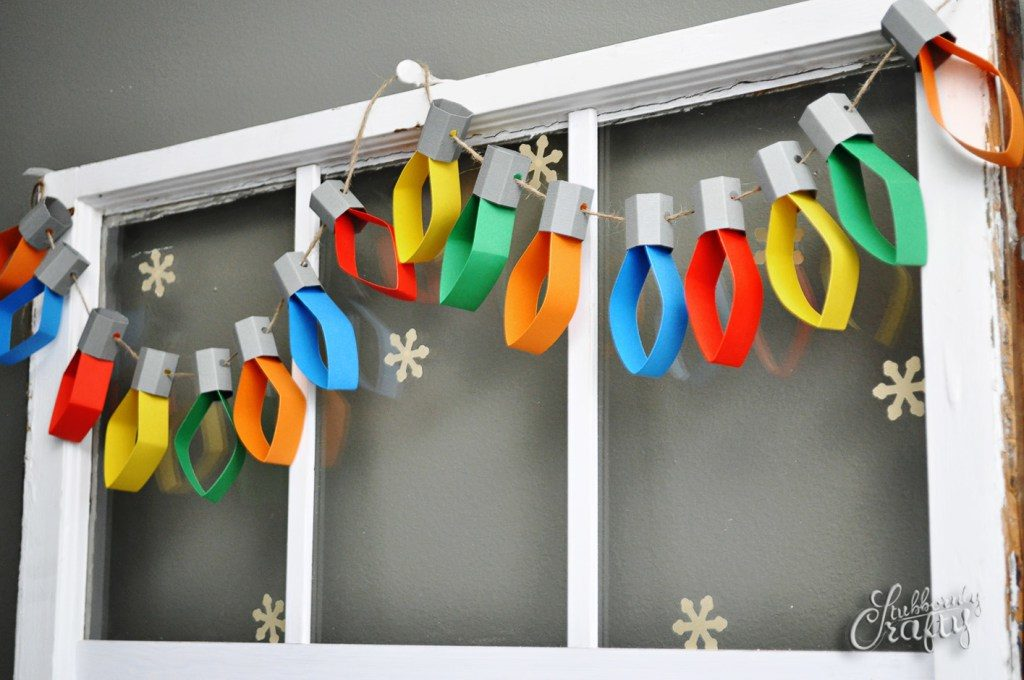 Paper light strand diy christmas decorations