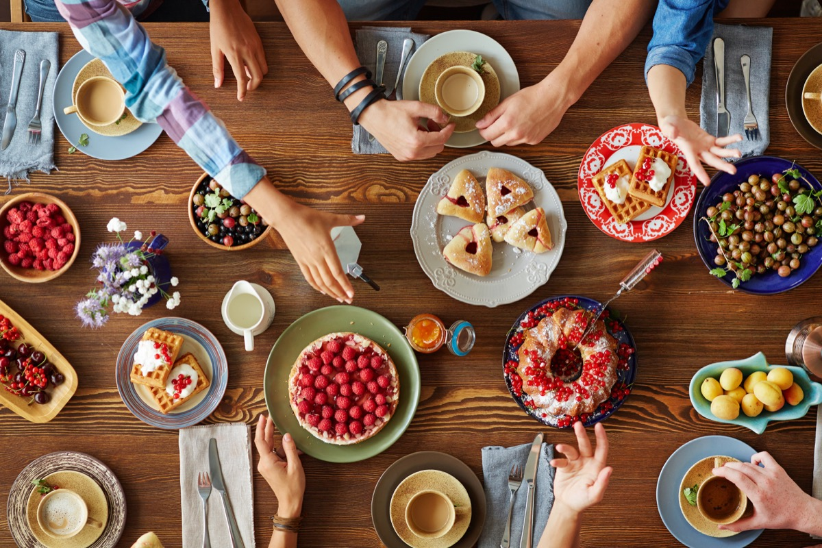 Christmas Table with Food Christmas Perfectionism