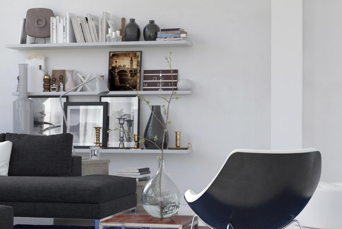 decorated shelves celebrity home design tricks