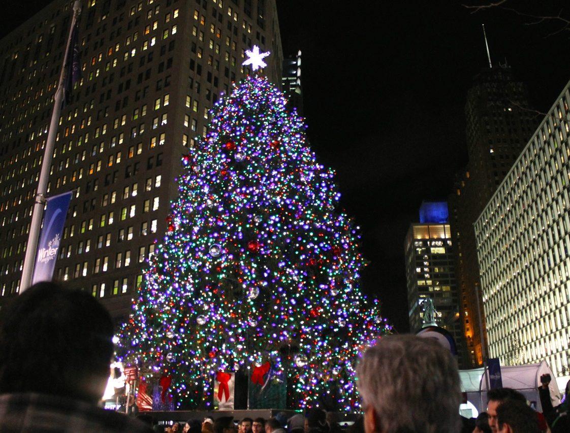 Detroit Michigan State Christmas Tree