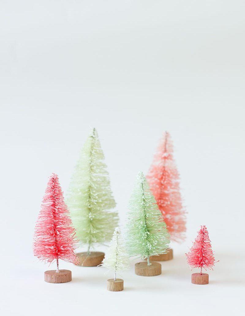 Bottle brush trees diy christmas decorations