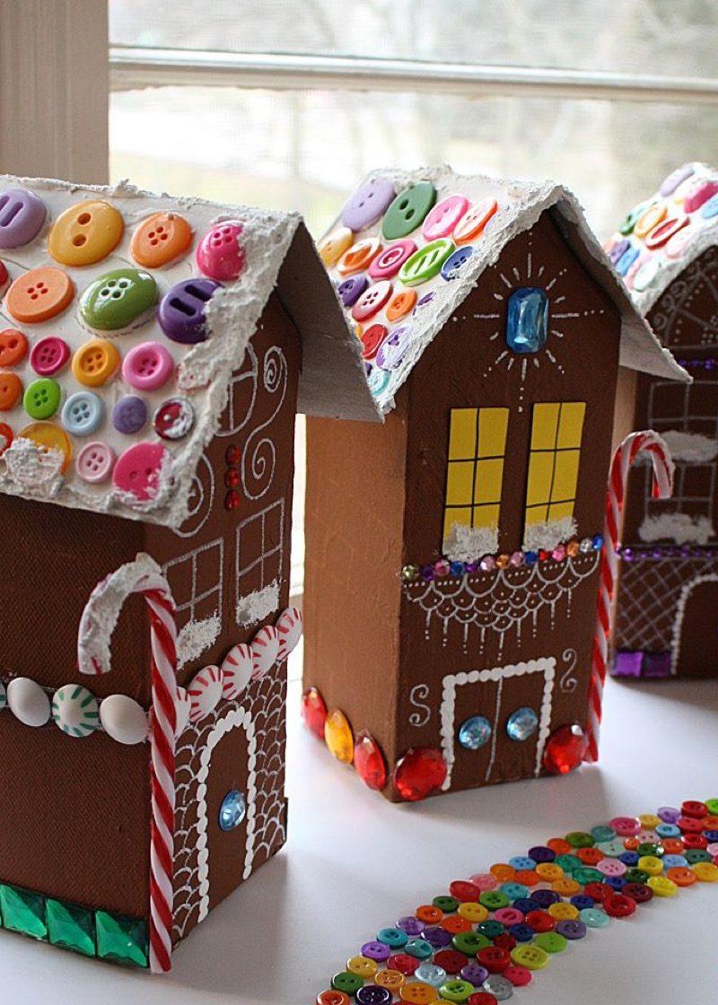 gingerbread village diy christmas decorations